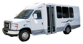 Up to 16 Pass luxury limo bus (new)