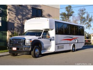 (F) Ford F550 Limousine Coach  (up to 28/32 Passengers)