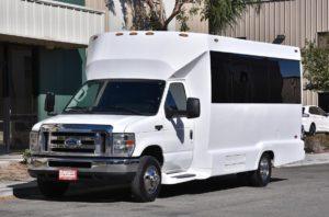 (D) White Mini Limousine Coach (up to 16/18 Passengers)