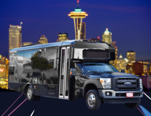 (E) FORD F550 EXECUTIVE VIP SHUTTLE BUS (up to 32/33 passengers) (No Luggage)