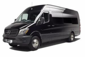 (B) Mercedes Sprinter (Bench Seating) (High Roof) (up to 14 passengers) (COMING SOON)