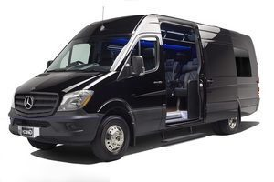(C) Mercedes Benz Sprinter VIP Shuttle Coach (up to 14 passengers)