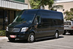 (B) Mercedes Sprinter Coach bus  (up to 14 passengers)