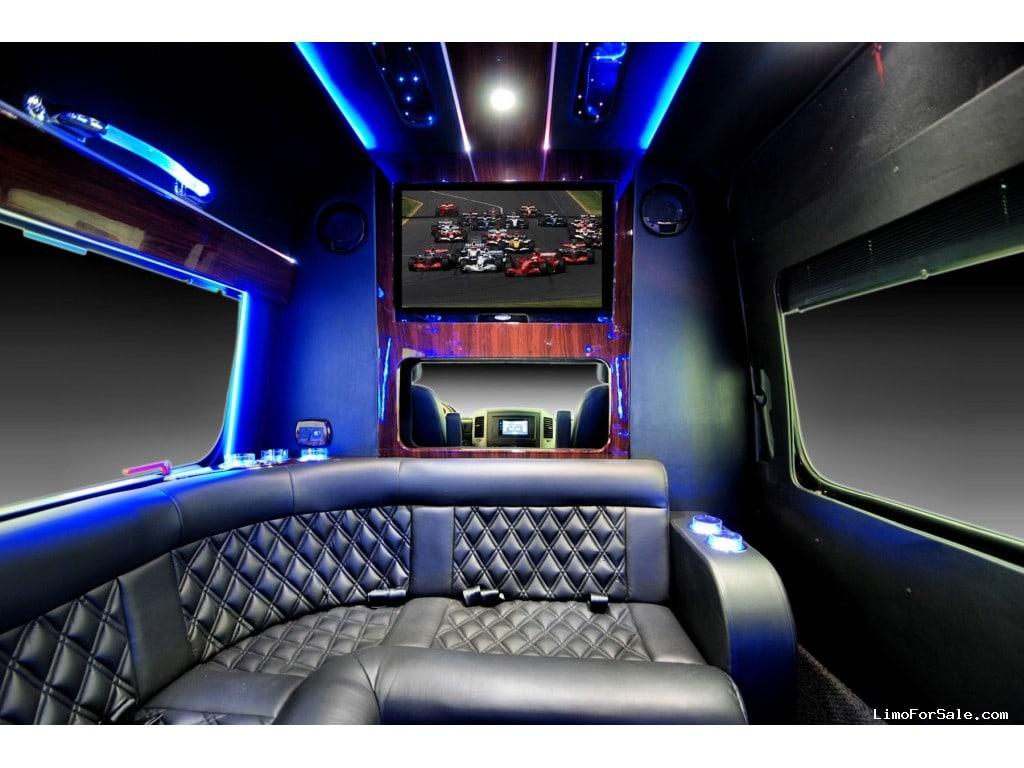 A Mercedes Benz Limousine Sprinter Coach Up To 10 Passengers