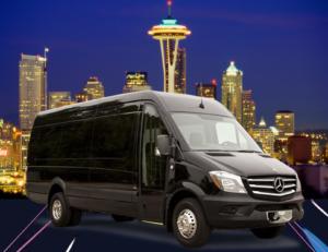 (G) Mercedes Benz Sprinter VIP Shuttle Coach (up to 14 passengers)