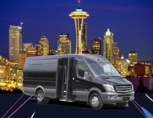 (B) Mercedes Benz Sprinter VIP Shuttle Coach (up to 14 passengers)